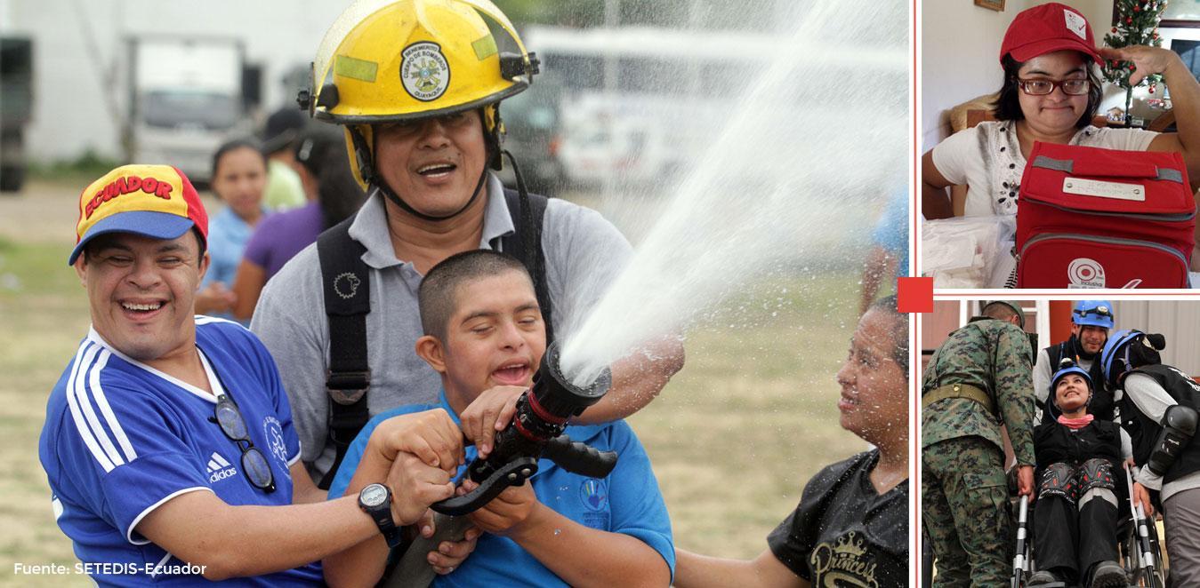 Equipo de Rescate con personas con discapacidad