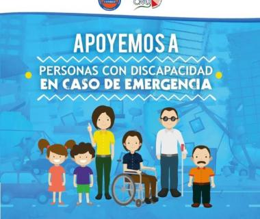"Teaching materials of the Central American project ""Inclusion of people with disabilities and older adults in DRR"""