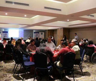 Organizaciones internacionales de personas ciegas en Guatemala impulsan la inclusión de las personas con discapacidad en la gestión del riesgo de desastres.